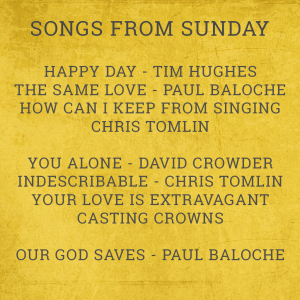 Songs From Sunday Aug 09
